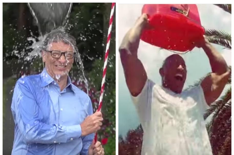 'Ice Bucket Challenge' de Bill Gates y  'La Roca'. Pulzo.com