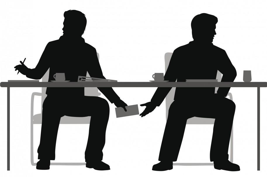 Trato por debajo de la mesa (ilustración)