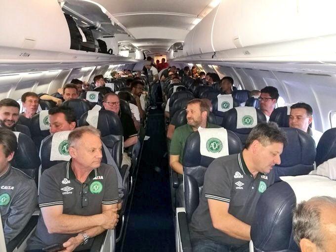 Avión en que viajaba Chapecoense
