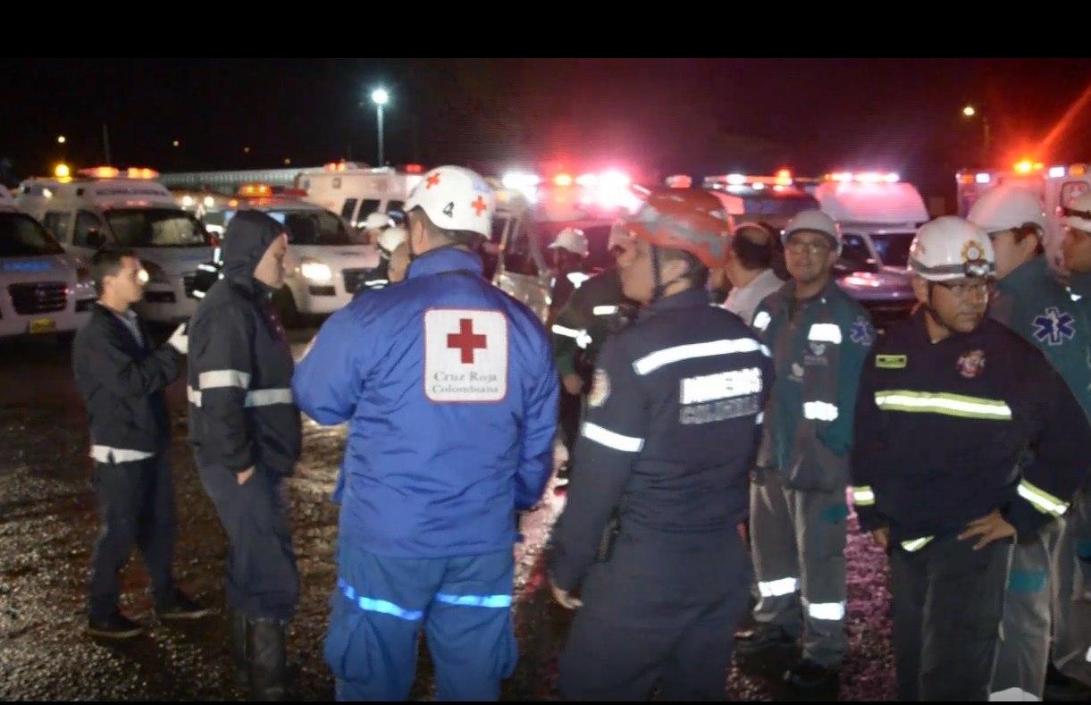 Captura de video de las operaciones de rescate