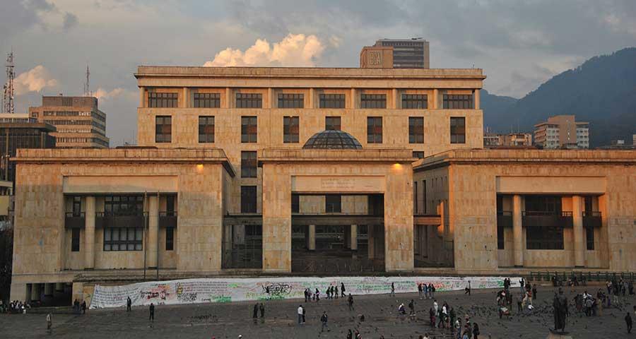 Vista del Palacio de Justicia