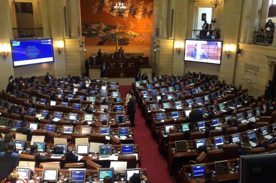 Votación del acuedo con las Farc en la Cámara