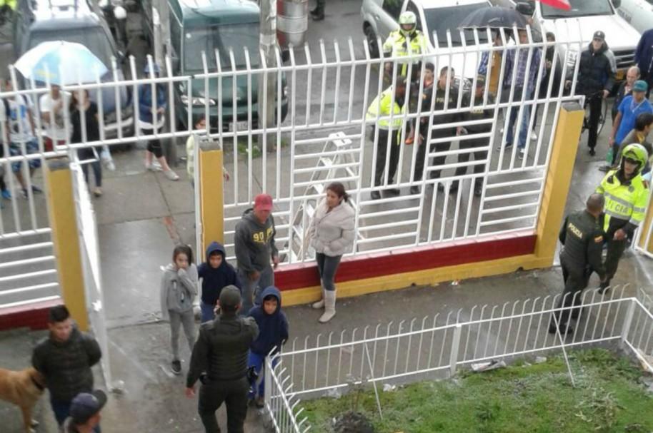 Gresca en el barrio Bachué, en Bogotá