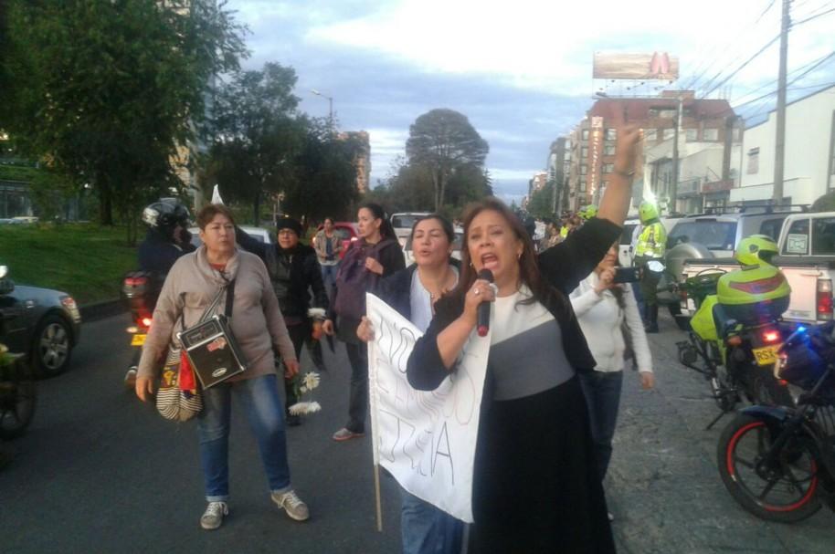 Protestas en Bogotá por el crimen de Yuliana