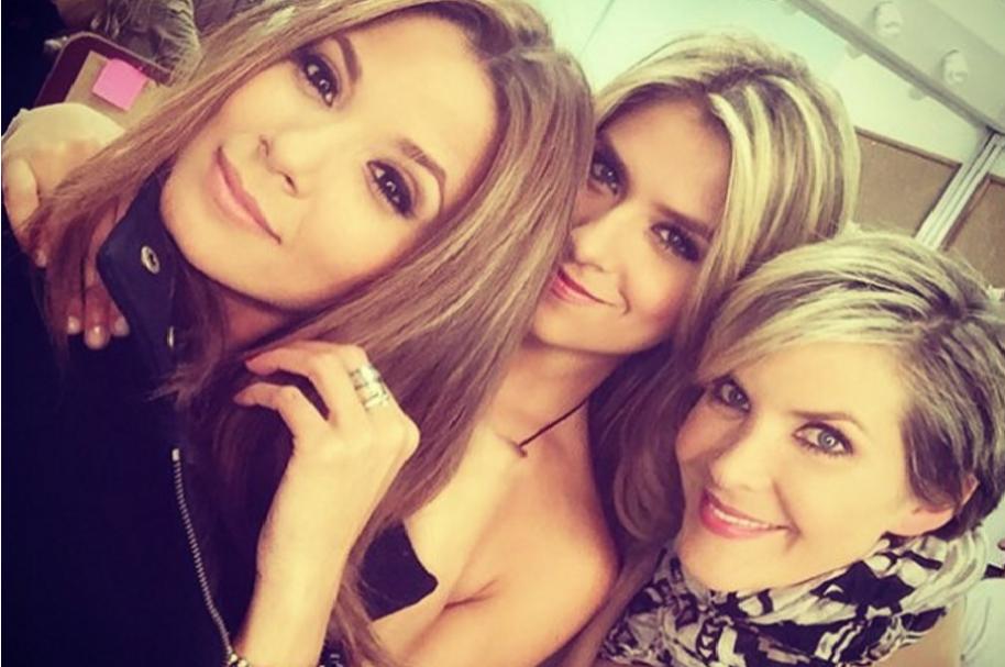 Las presentadoras Melissa Martínez, Laura Tobón y Margarita Ortega.