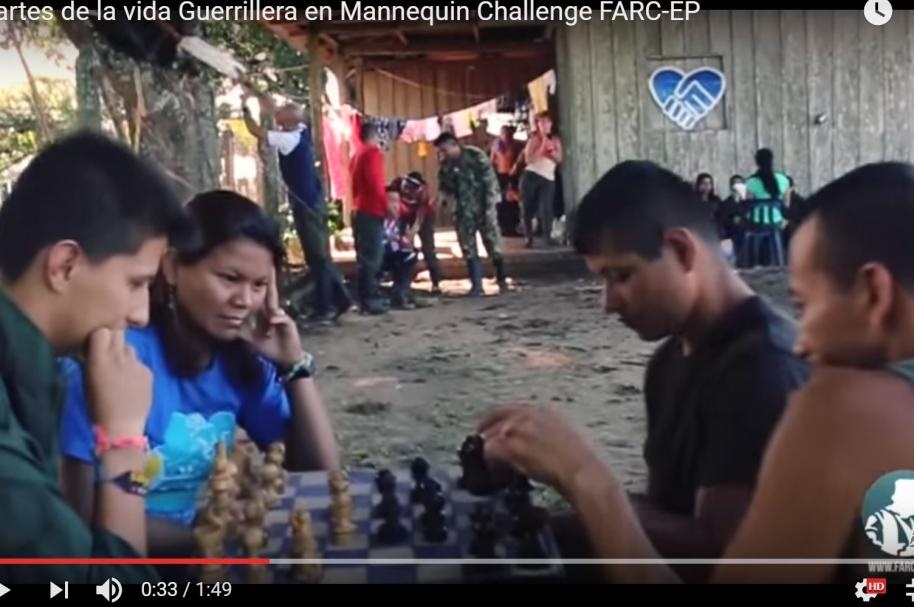 El mannequin challenge de las Farc