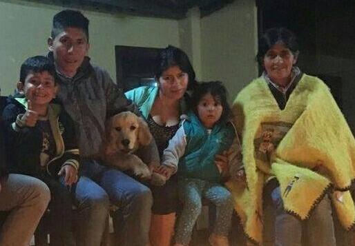 Nairo Quintana y familia