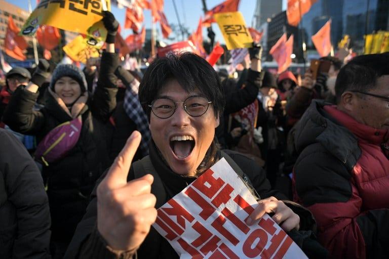 Celebran destitución de presidenta de Corea del Sur Park Geun-Hye. Pulzo.com