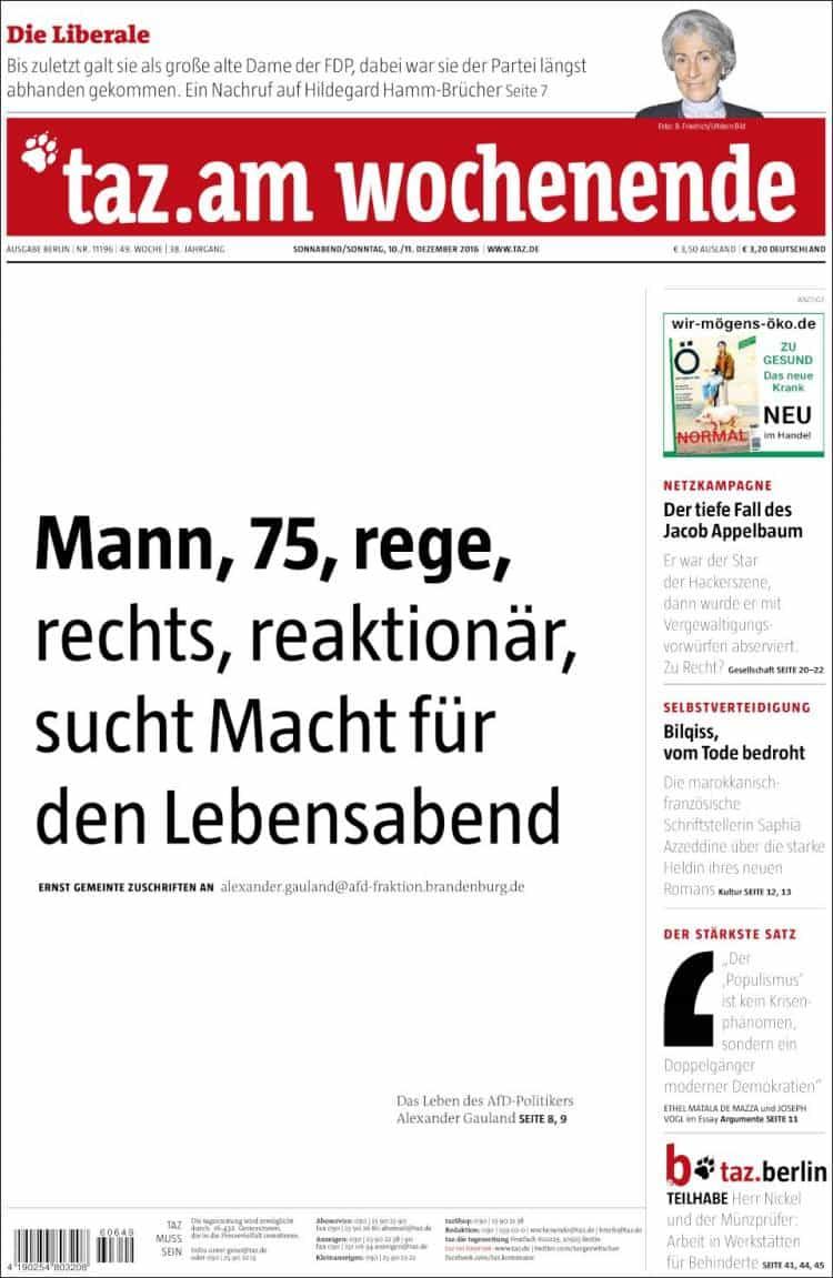 16 tageszeitung.750