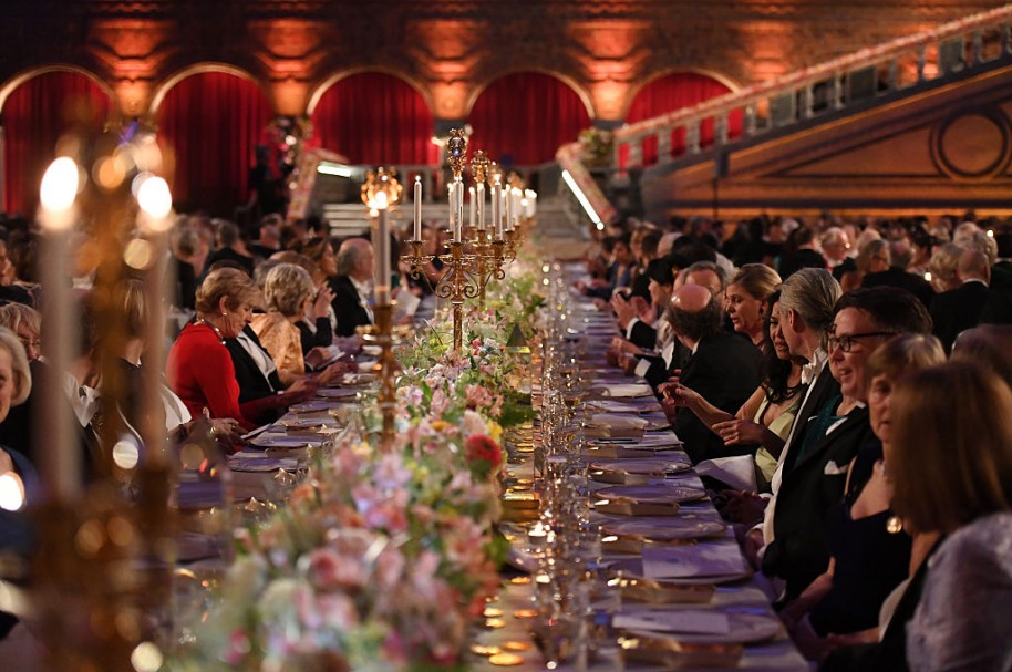 Langosta y codorniz, en el menú del banquete de los Premios Nobel.