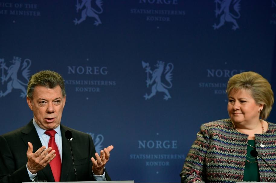 Santos y primera ministra de Noruega