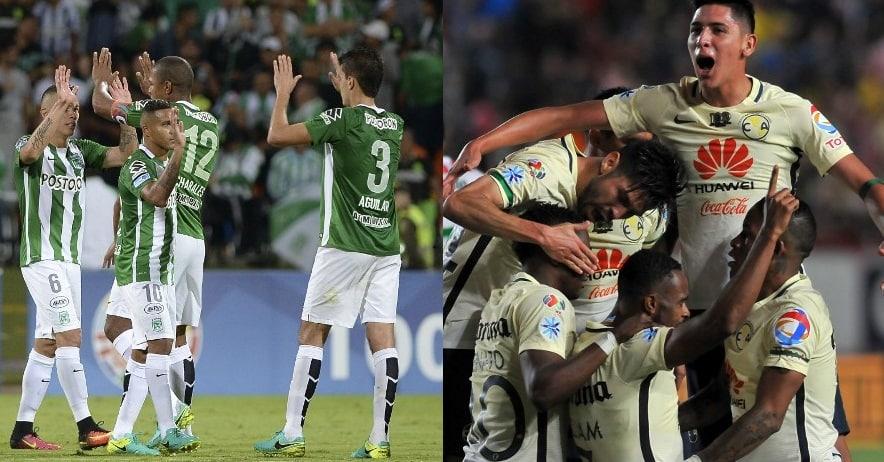 Atlético Nacional y América de México