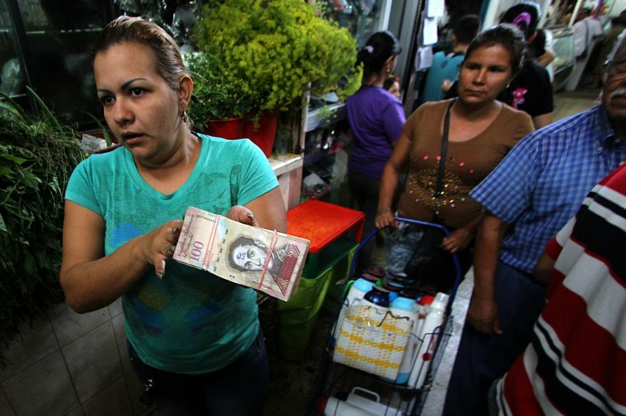 Billetes de cien bolívares