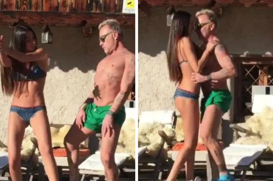 Gianluca Vacchi y su novia
