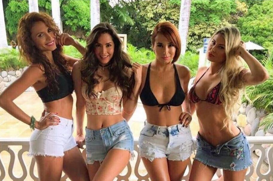 Carolina Sepúlveda, Carmen Villalobos, Majida Issa y Alejandra Pinzón, actrices de 'Sin tetas sí hay paraíso'.