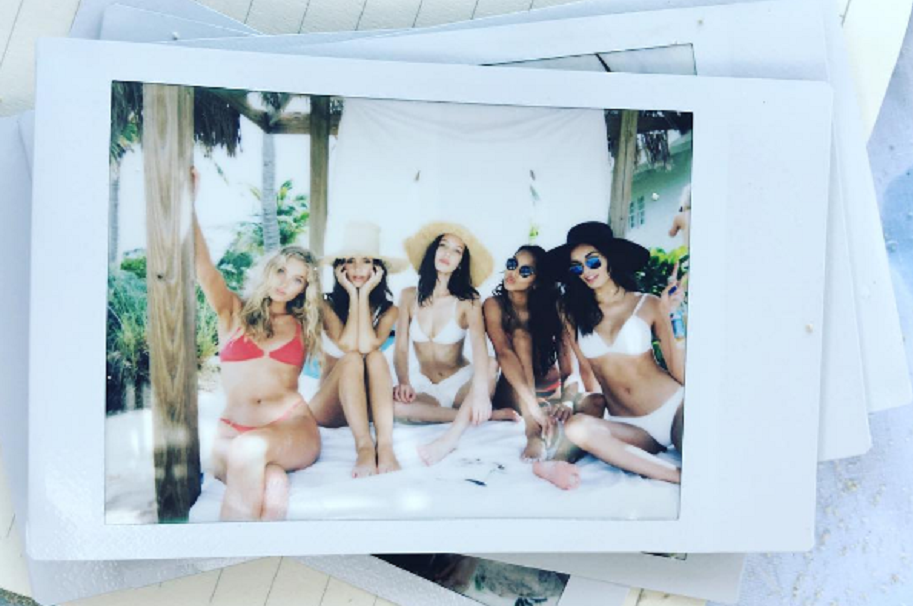 Vacaciones modelos de Victoria's Secret