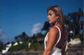 Katarina Konow en las Bahamas