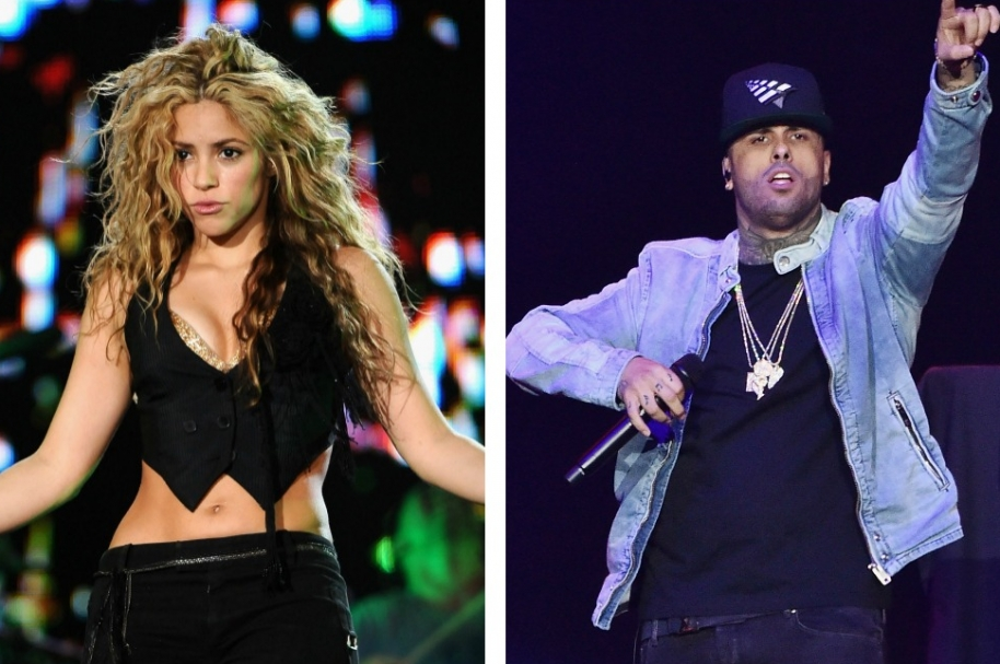 Shakira y Nicky Jam, cantantes.