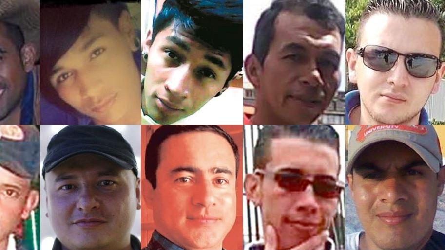 Rostros de personas asesinadas