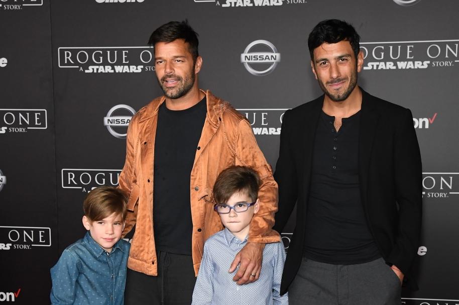Ricky Martin, Jwan Yosef y Matteo y Valentino Martin