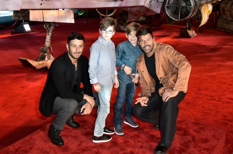 Ricky Martin, Matteo Martin, Valentino Martin, Jwan Yosef