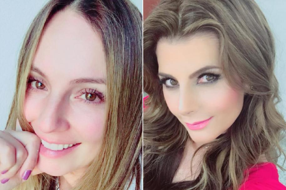 Claudia Bahamón y Carolina Cruz, presentadoras colombianas.