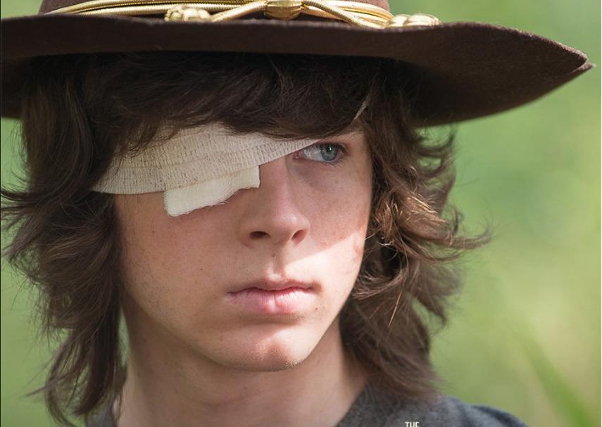 Carl, de 'The Walking Dead'.