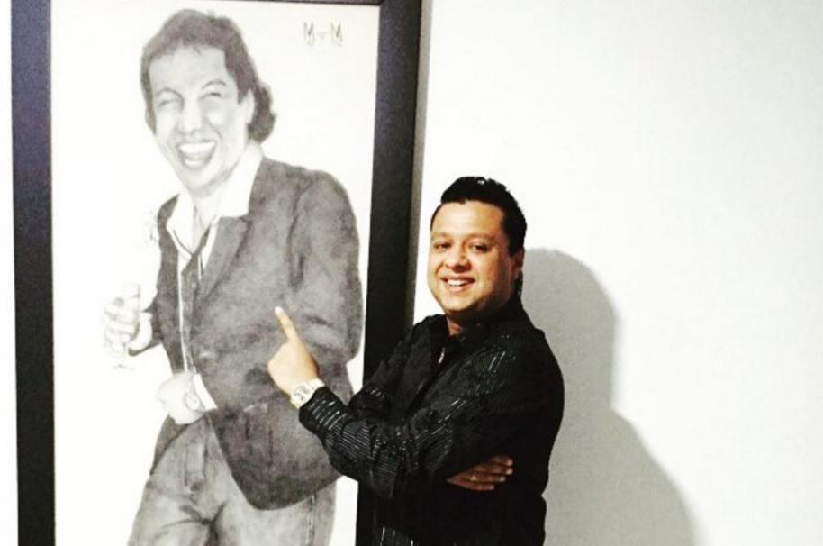 Rafael Santos, cantante, actor e hijo del fallecido Diomedes Díaz.