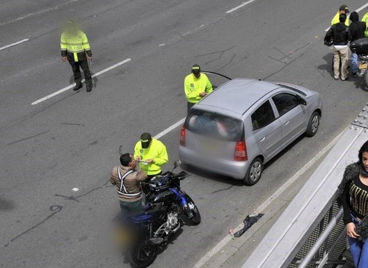 Policías de Tránsito en Bogotá.