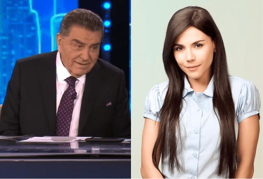 Don Francisco, presentador de Telemundo, y Carolina Gaitán, protagonista de 'Sin tetas sí hay paraíso'.