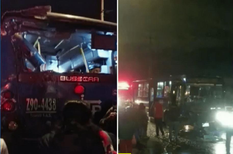 Accidentes de buses SITP