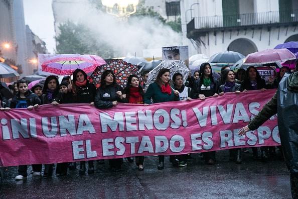 Protesta de mujeres en Argentina