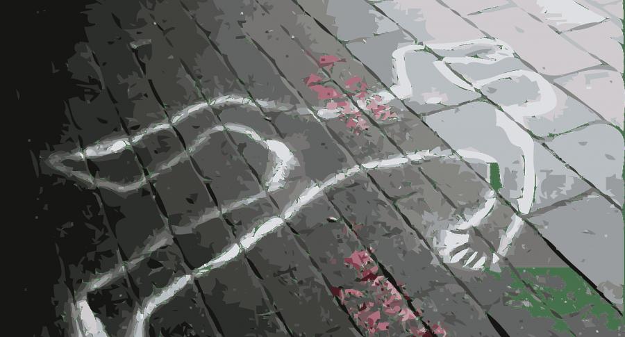 Ilustración de una escena del crimen