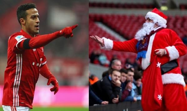 Thiago Alcantara y Papá Noel