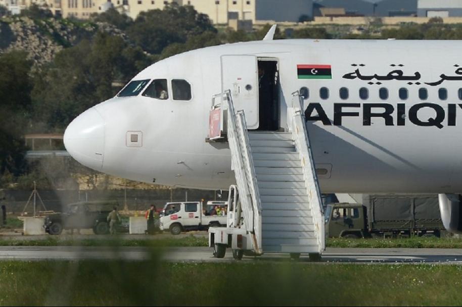 Avión secuestrado en Malta