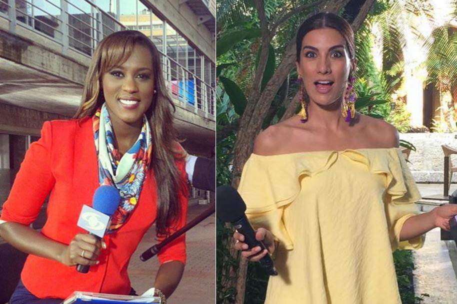 Claudia Lozano y Andrea Serna, presentadoras de Noticias Caracol y 'Misión impacto' de RCN, respectivamente.