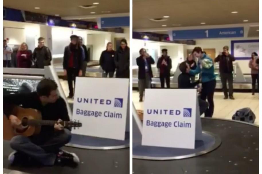 Propuesta de matrimonio en aeropuerto de EE. UU. Pulzo.com