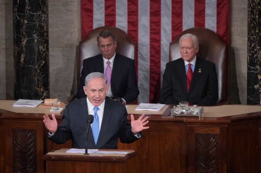 Benjamin Netanyahu en el Congreso de Estados Unidos