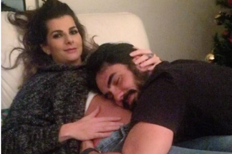 Carolina Cruz, presentadora de 'Colombia's next top model'  y su novio, el actor Lincoln Palomeque.