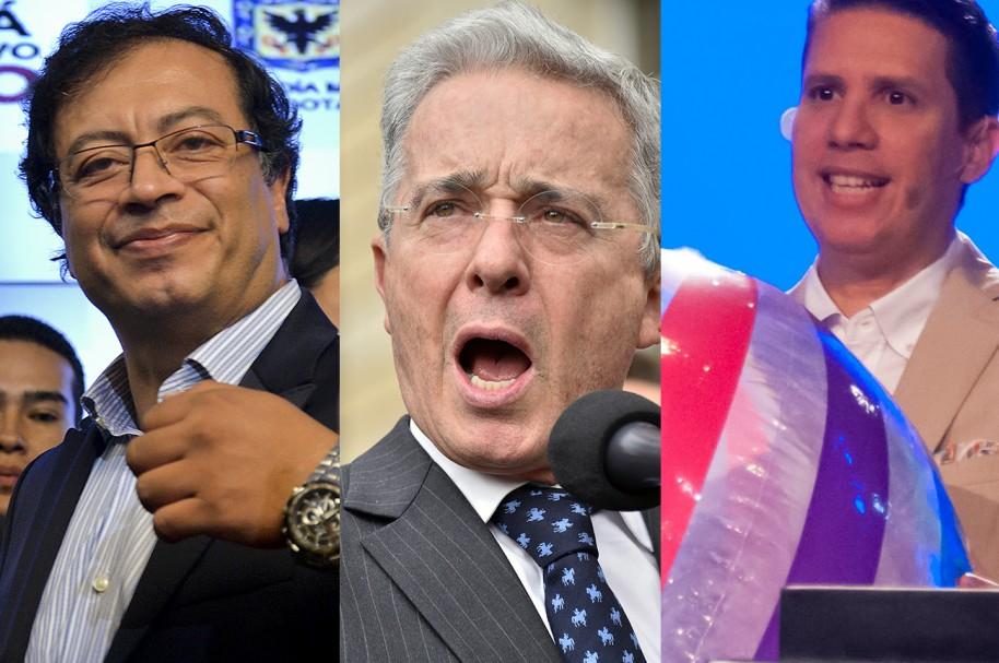 Gustavo Petro, Álvaro Uribe y Miguel Arrázola