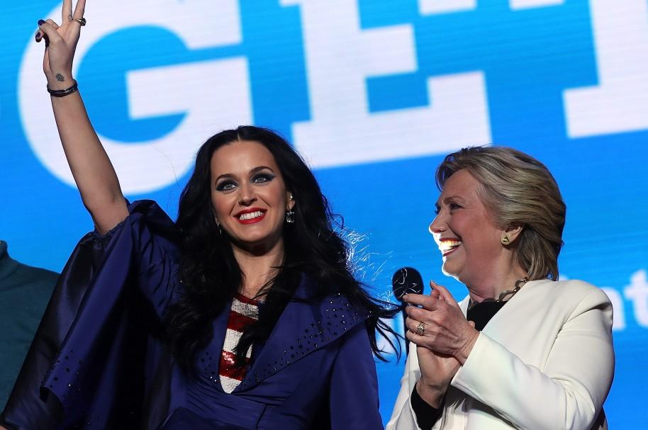 Katy Perry y Hillary Clinton