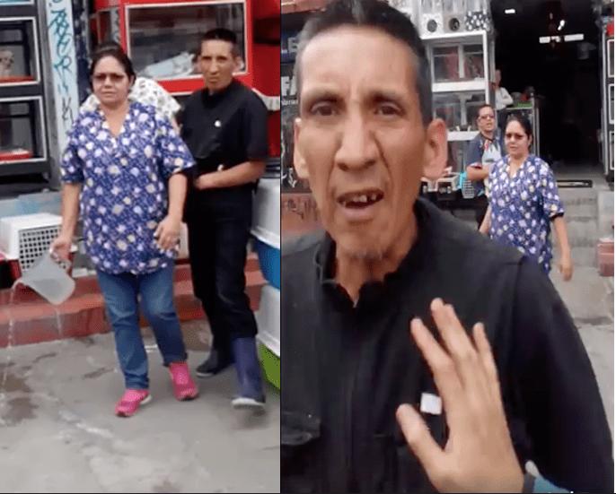 Vendedores de Chapinero agrediendo a animalistas.