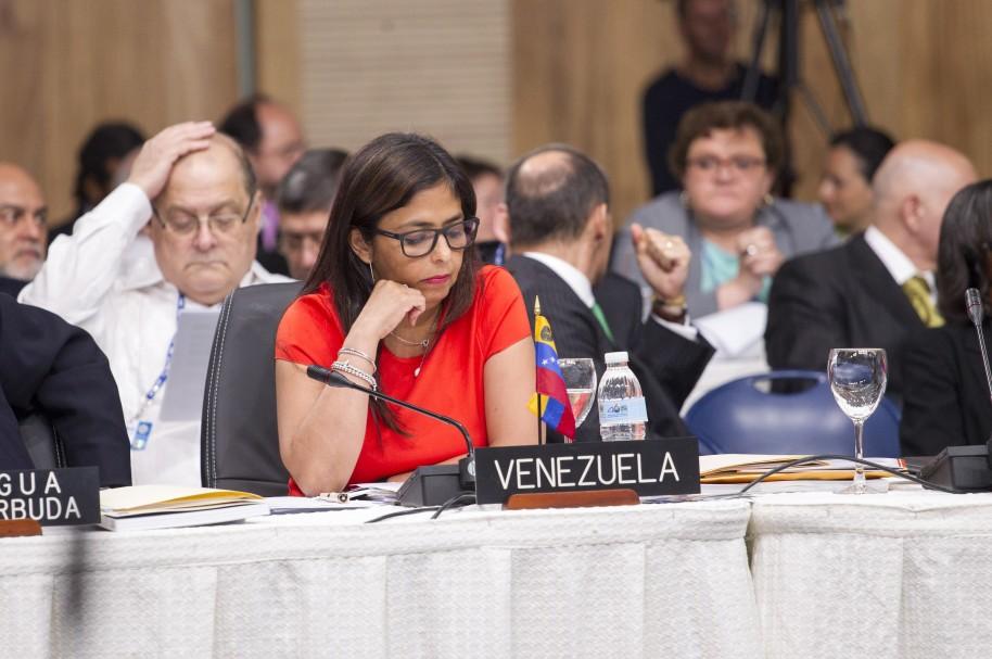 Delcy Rodriguez, Canciller de Venezuela.