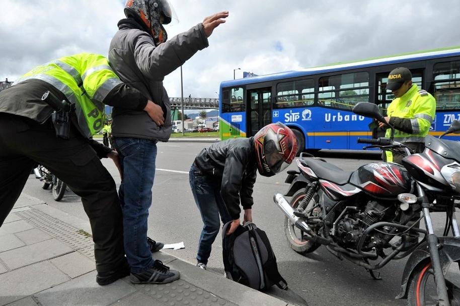 Motociclistas en Bogotá