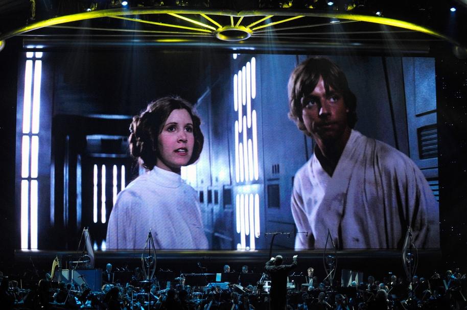 Carrie Fisher y Mark Hamill en 'La guerra de las galaxias'