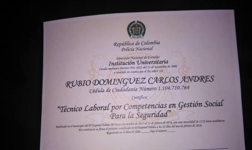 Diploma de Policía