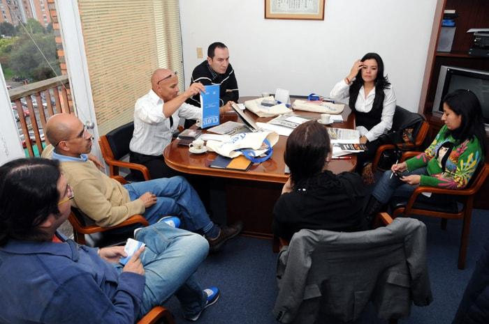 Colombianos en su trabajo