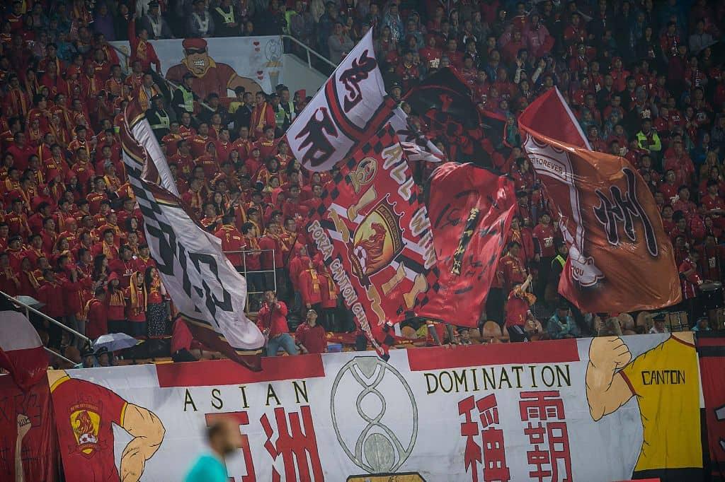 Aficionados fútbol China