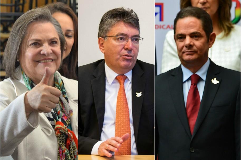 Clara López, Mauricio Cárdenas y Germán Vargas Lleras