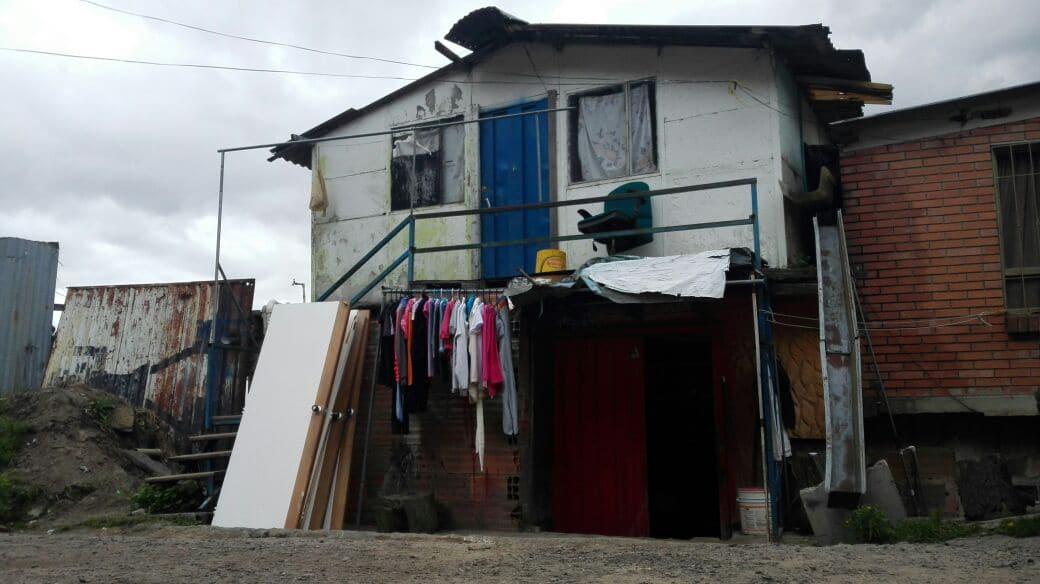 En esta casa vivía Yuliana y allí fue raptada